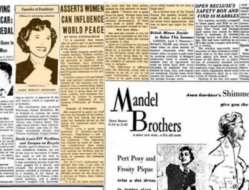 Lady Molly Huggins: Chicago Tribune 1951