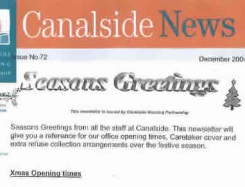 Canalside News: December 2004