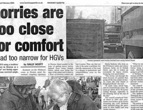Lorries are too close for comfort: Hackney Gazette 2006
