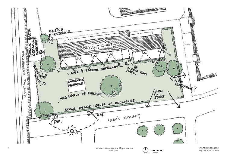 Proposed designs for the Bryant Court Garden produced by Charushila. ©Charushila.